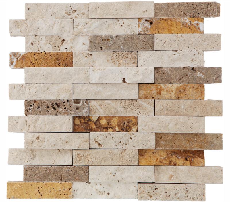 2,5x10 cm Split Face Mosaics